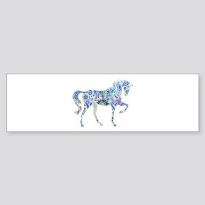 Cool Colorful Horse Bumper Sticker