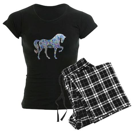 Cool Colorful Horse Women's Dark Pajamas