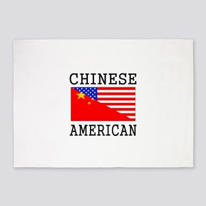 Chinese American Flag 5'x7'Area Rug