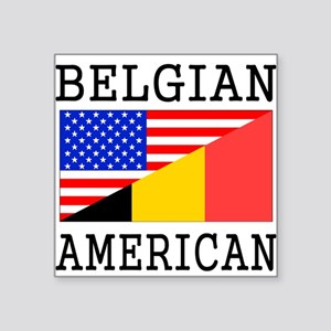 Belgian American Flag Sticker