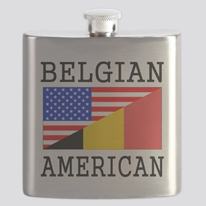 Belgian American Flag Flask