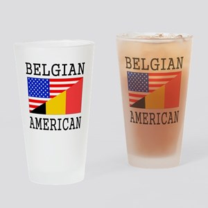 Belgian American Flag Drinking Glass