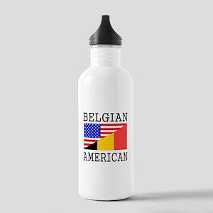 Belgian American Flag Water Bottle