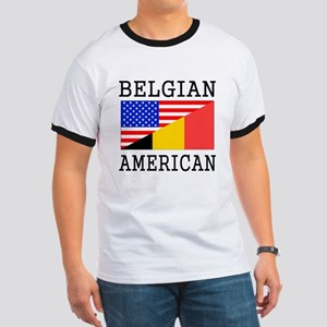Belgian American Flag T-Shirt