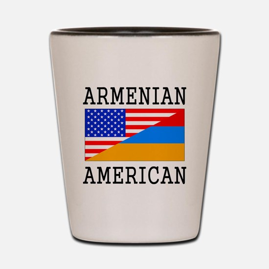 Armenian American Flag Shot Glass
