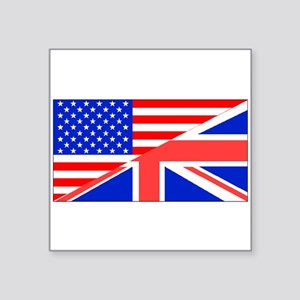 British American Flag Sticker