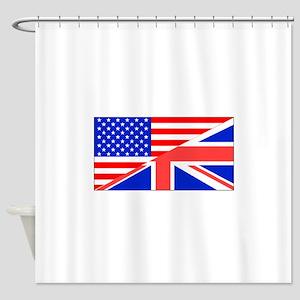 British American Flag Shower Curtain