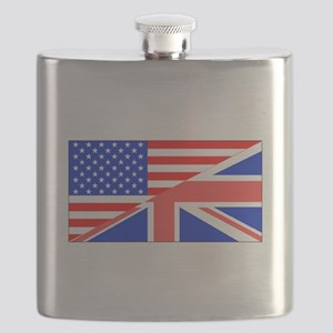 British American Flag Flask