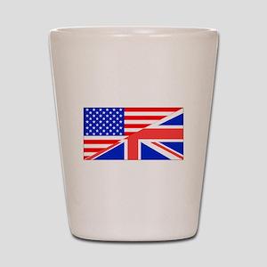 British American Flag Shot Glass