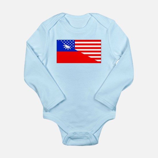 Taiwanese American Flag Body Suit