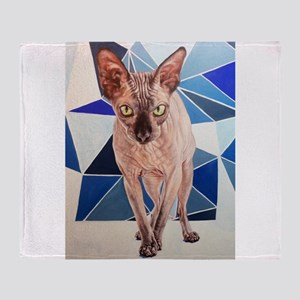 Matilda (the Sphinx Cat) Throw Blanket