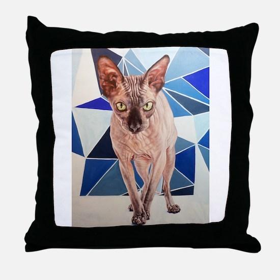 Matilda (the Sphinx Cat) Throw Pillow