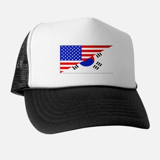 Korean American Flag Trucker Hat