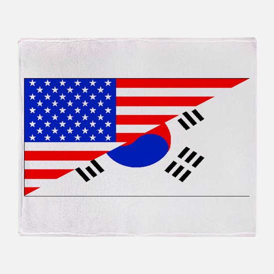 Korean American Flag Throw Blanket
