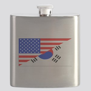Korean American Flag Flask