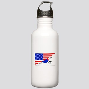 Korean American Flag Water Bottle