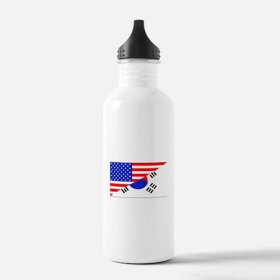 Korean American Flag Water Bottle