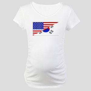 Korean American Flag Maternity T-Shirt