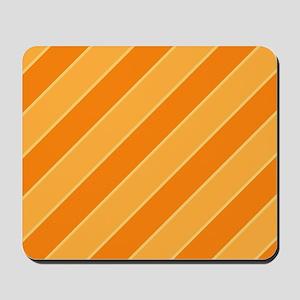 Orange Cream Pop Stripes Mousepad