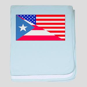 Puerto Rican American Flag baby blanket