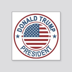 "WOW! Trump President Square Sticker 3"" x 3"""