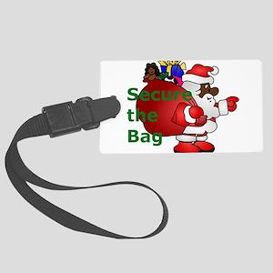secure the bag santa Large Luggage Tag