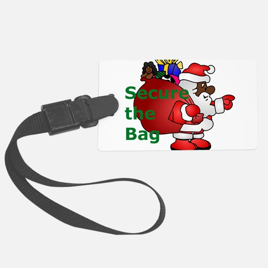 secure the bag santa Luggage Tag