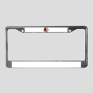 secure the bag santa License Plate Frame