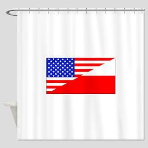 Polish American Flag Shower Curtain