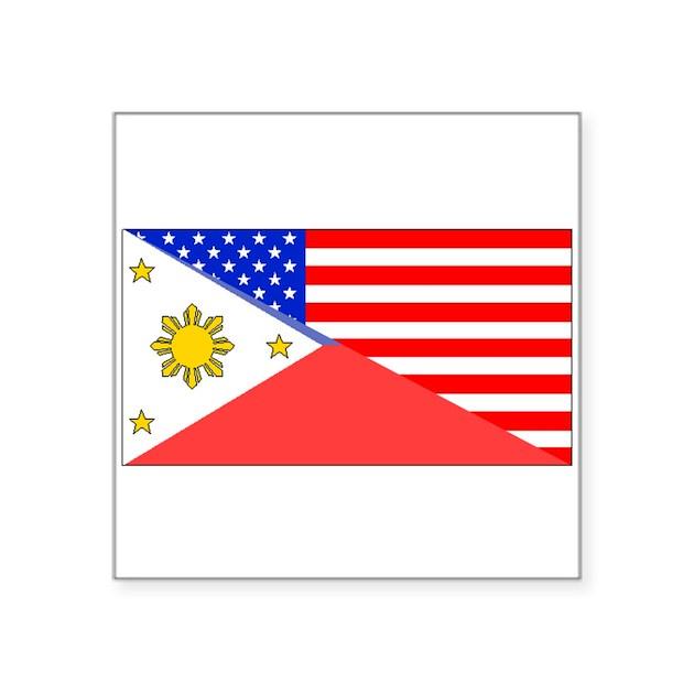 Filipino American Flag Sticker by HalfAmerican