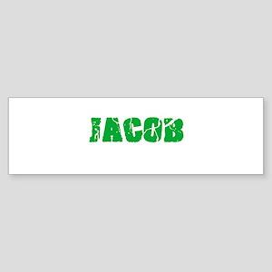 Jacob Name Weathered Green Design Bumper Sticker