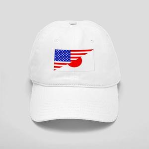 Japanese American Flag Baseball Cap