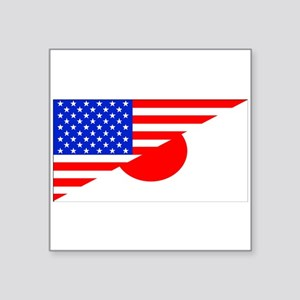 Japanese American Flag Sticker