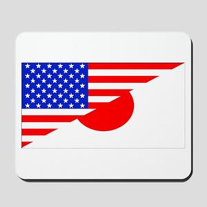 Japanese American Flag Mousepad