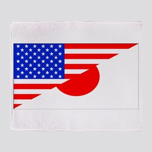 Japanese American Flag Throw Blanket