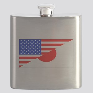 Japanese American Flag Flask