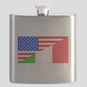 Italian American Flag Flask