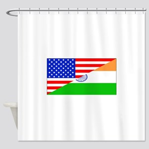 Indian American Flag Shower Curtain