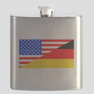 German American Flag Flask