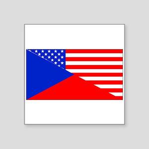 Czech American Flag Sticker