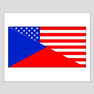 Czech American Flag Posters