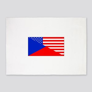 Czech American Flag 5'x7'Area Rug