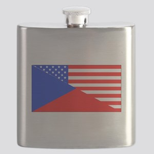 Czech American Flag Flask