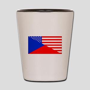 Czech American Flag Shot Glass