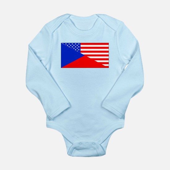 Czech American Flag Body Suit