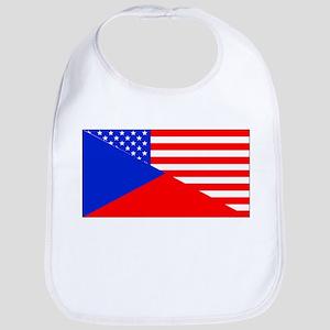 Czech American Flag Bib