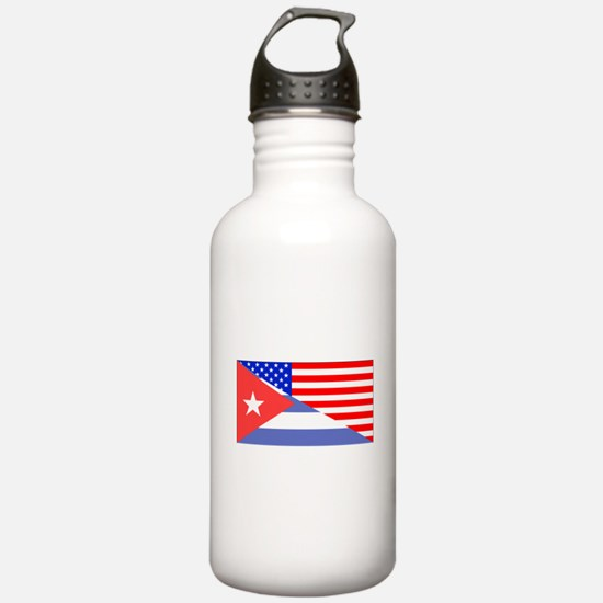 Cuban American Flag Water Bottle