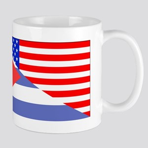 Cuban American Flag Mugs