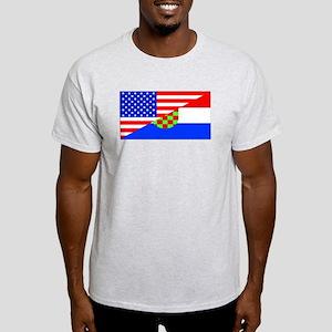 Croatian American Flag T-Shirt