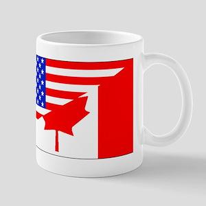 Canadian American Flag Mugs